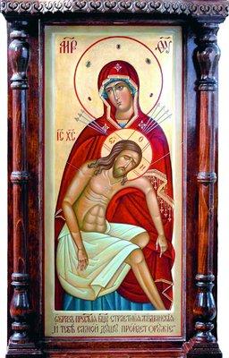 Жиздринская Страстная икона Божией Матери. 2004 г. (ц. Покрова Пресв. Богородицы, Жиздра)